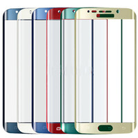 Wholesale samsung galaxy s5 s for sale – best For Samsung S Edge Colorful Full Cover Glass Tempered Film Screen Protector for Samsung Galaxy S6 Edge G9250 Color gold Black