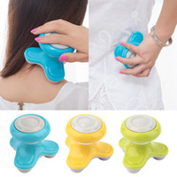 Wholesale Electric Handled Vibrating Mini Full - 2016 Healthy & Beauty Mini USB Battery Full Body Massage Wave Vibrating Electric Handled Head  Neck Mini Electric Massager New
