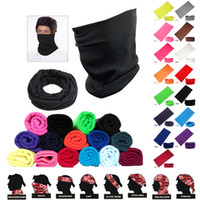 Wholesale Fashion Magic Headwear Pure Color Seamlessly Scarf Outdoor Cycling Head Scarf Multifunction Scarves Riding Face Mask Hood F474