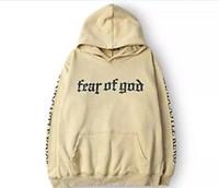 Wholesale hiphop sweatshirts - Men Brand Fear Of God Hoodie Beige Purpose Tour Sweatshirt Gorilla Wear Hiphop Sweatshirt Skateboard Wes High Quality Hoodies