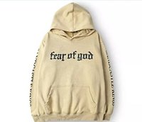 Wholesale v neck pullovers men - Men Brand Fear Of God Hoodie Beige Purpose Tour Sweatshirt Gorilla Wear Hiphop Sweatshirt Skateboard Wes High Quality Hoodies