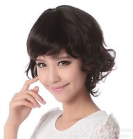 Wholesale Short Brown Men Curly Wig - Free Shipping 100% Hu-man Hair Wig Short Fresh Wig for Balck Women