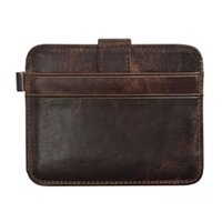 Wholesale Slot Drive - S5Q Men and Women Vintage Mini Hasp Small Purse Leather Driving Card Holder Wallet AAAFVT