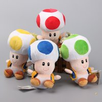 Super Mario Mushrooms Toad Plush Toys 4 cores Cute Stuffed Animals Kids Gift 7
