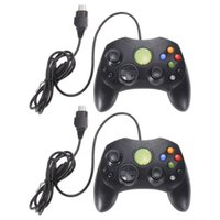 Freeshipping 2pcs / lot Black Gamepad Controller para Xbox System Wired Controller Game Pad para Microsoft XBOX S Type 2 Gamepad