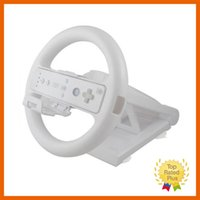 Wholesale Game Steering - New White Multi-angle Racing Game Steering Wheel Stand for Nintendo Wii Console Controller Without Remote & Nunchuck
