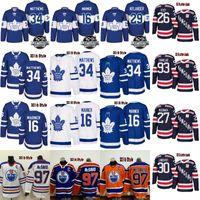 Wholesale M Leaf - 2018 100th Classic Maple Leafs 34 Auston Matthews 16 Mitch Marner Oilers 97 Connor McDavid rangers 30 lundqvist 27 mcdonagh zibanejad Jersey