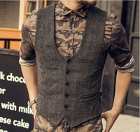 Wholesale sleeveless jacket for male casual for sale - 2018 New Arrival Dress Vests For Men Slim Fit Mens Suit Vest Male Waistcoat Gilet Homme Casual Sleeveless Formal Business Jacket