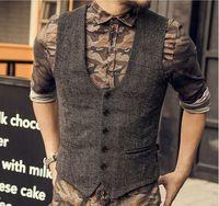mens business casual suit ceket toptan satış-Erkekler Için 2019 Yeni Varış Elbise Yelekler Slim Fit Erkek Suit Yelek Erkek Yelek Jile Homme Rahat Kolsuz Örgün İş Ceket