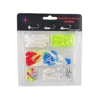Soft Worm Lure Carpe Fishing Lure Set + 10 Lead Head Jig Ganchos Simulation Suite Pesca Iscas Multi Purpose Fishing Tackle 2508002