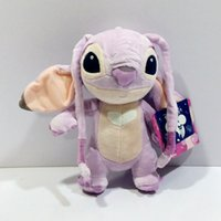 Wholesale Pink Stitch Toys - Original Lilo and Stitch Girlfriend Angel Plush Purple 23cm Kids Toys Pelucia Stuffed Animals Soft Dolls For Girls Children Toy Christmas