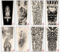 Wholesale Sun Sleeves For Men - 78 Styles Cool Temporary Pattern Cycling Sleeves Temporary Tattoo Sleeves Anti Sun Driving Tatouage Temporaire For Halloween Party DHL