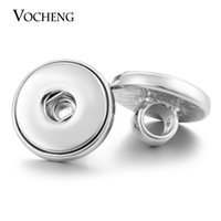 Wholesale 6mm Metal - VOCHENG NOOSA Snap Jewelry Findings Aperture Size 6mm Metal DIY Fit 18mm Button Vn-1140
