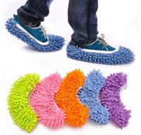 Wholesale Microfiber Chenille Wipe - (10 pieces lot=5pairs)Non Slip Cover Set Clean Clothe Cleaning Floor Chenille Microfiber Shoe Overshoes Floorcloth Wiping wn250