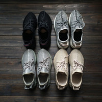 Wholesale Fashion Laces - (Come With Box) 2017 Moonrock Black 350 V1 Boosts Classic Men's and Women's Fashion 350 Shoes Running Shoes Sneaker
