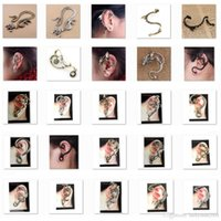 Bonnes ventes Ear Cuff bird serpent Dragon 60 Different Styles Boucle d'oreille or ou argent ou noir LKYLEC001