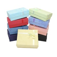 Wholesale earring packing boxes - Favor Bag Wholesale Multi colors Jewelry Box, Ring Box, Earrings Box 9.2cm*7.2cm Packing Gift Box Free Shipping