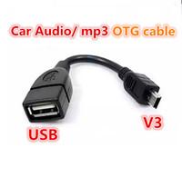 porta usb b venda por atacado-Atacado-100% teste antes de enviar USB A fêmea para Mini USB B macho cabo adaptador 5P OTG V3 cabo de dados de porta para carro Audio Tablet para MP3 MP4