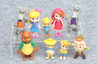Wholesale Bears Tale - New 9pcs Goldie & Bear Fairy Tale Forest Friends Figure Anime Jack Bear Figurines Set Kids Toys Collectible for Gifts anime toys brinquedos