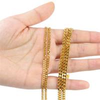 multi kettenglied halskette großhandel-2017 multi stil hip hop kubanischen gliederkette halskette gold silber überzogene Panzerkette schmuck geschenk für männer frauen