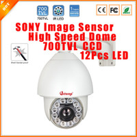 Wholesale Speed Dome Bracket - 1 3'' SONY Effio-E 700TVL High Speed PTZ Dome Camera 27 X Optical Zoom Waterproof Outdoor PTZ Security Camera With Bracket CCTV