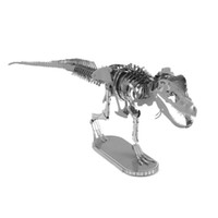 Wholesale Metal D Puzzle Tyrannosaurus Rex Skeleton DIY Stainless Steel Laser Cutting Dinosaur Model Children Assembly Jigsaw Toys