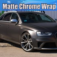 Wholesale matte color cars resale online - Dark Grey gunmetal metallic matte vinyl wrap for car styling covering stickers Anthracite Matt covering skin size x20m Roll x66ft