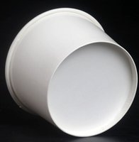Wholesale Paper Vegetables - Ice Cream Paper Cup Vegetable Packing Bowls Tableware Round 4oz Disposable Bowl Holiday Party Restaurant Supplies Dishware White 170lm CY