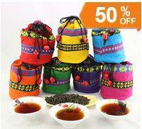 Wholesale Gifts Bags China - promotion China Yunnan Puer cooked tea puerh loose pu'er tea pu-er gift bag packing minimum order 100g