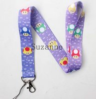 Wholesale Mario Cell Phone Charms - Free shipping 150 Pcs  Wholesale lots Super Mario Necklace Strap Lanyards Cell Phone PDA Key ID Strap Charms