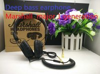 Wholesale New Headphone Mic Dj - New Arrival Marshall Major DJ Studio Headphones Deep Bass Noise Isolating headset Monitorring With Mic&Remote Stereo Earphones earbuds