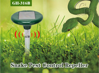 ingrosso fornitura di giardini eco-Nuovo Solar Powered LED Ultrasuoni Gopher Talpa Snake Mouse Repeller Pest per attrezzi Garden Yard