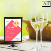 Wholesale Photo Frame Table - 10PCSABS plastic digital photo frame poster advetising price tag A4 display stand,table menu display(Size:A4)
