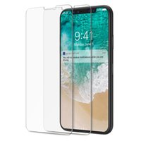 Wholesale Anti Stockings - In Stock For Iphone X 8 Tempered Glass Size Guaranteed Screen Protector Anti-fingerprint for Samsung Galaxy (No package)