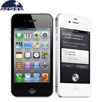 "Wholesale Iphone4s Cell - Used iPhone4s Original Unlocked Apple iPhone 4S Mobile Phone 3.5"" IPS Smartphone 512MB RAM 16GB ROM Used Phone 3G GPS iOS Cell Phones"