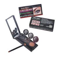 Wholesale Eyeliner Palette - Music Flower Brand Makeup Eyeliner Gel & Eyebrow Powder Palette Waterproof Lasting Smudgeproof Cosmetics Eye Brow Enhancers 2801041