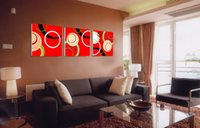 Modern Fine Abstract Circle Painting Giclée-Druck auf Leinwand Wall Art Home Decoration Set30226