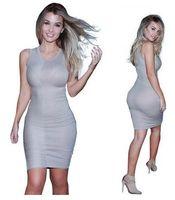Wholesale Tight Pencil Dresses For Women - 2016 New Top Sales Dresses for Women Tight Elastic Sexy Mid Calf Dress Casual Show Women Shin Clothing Pack Hip Pencil Vintage dresses