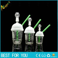 Wholesale Nail Cups - McDonald Cup Spritech Tree Cup Starbuck Cup Original Opaque concentrate oil rig glass bong glass dome and nail Hookah glass water pipe