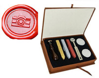 Wholesale Camera Stamps - Custom Logo Wedding Invitations Vintage Luxury Gift Box Camera Wax seal stamp kit