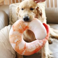 Wholesale Dog Toy Pillow - 350G Shelled Shrimps Dogs Toy Simulation Fleece Shrimp Pillow Protect Neck Sleeping Puppy Toys Pet Supplies