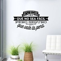 Wholesale famous papers - Decorative Viny Wall Stickers Spanish Famous Quote Inspiring Phrase Wall Decals Sticker Home Decor for Living Room Decoration