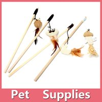 Wholesale Cat Furniture Wood - 2016 New Fashion & Hot Cat Play Wooden Stick Toys Trainning Toy Teaser Pet Cat Supplies Cat Furniture Scratchers Free Shipping 161019