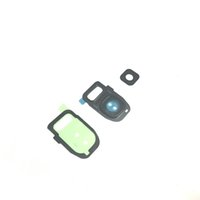 Wholesale Camera Diffuser - Original Rear Back Camera Frame Holder With Glass Lens Flash Diffuser + Adhesive Sticker For Samsung Galaxy S7   S7 Edge G930A G935
