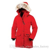 Wholesale Outdoor Winter Jackets Ladies - Outdoor winter Canadian big goose down jacket ladies in the long section thickening warm fashion Slim hooded 8 color