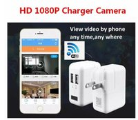 Wholesale Hidden Home Wireless Security Camera - 2017 New Wireless Wifi HD 1080P Spy Cam AC Plug Charger DVR Hidden Wall Charger Camera USB Adapter Home Security Socket Camera