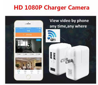 2017 Nueva Wifi Inalámbrica HD 1080 P Spy Cam AC Plug Cargador DVR Hidden Wall Charger Cámara Adaptador USB Home Security Socket Camera