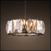 Max 60w Minimaliste American Iron Antique Cristal Lighting Classique Retro Living Lampes Chambre Chambre Lampes suspendues restaurant Chandelier LLWA1