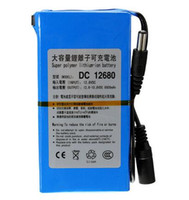 lityum video kameralar toptan satış-FEDEX hızlı DC 12 V için 6800 mAh Protable Şarj Edilebilir anahtarı Lityum-iyon Pil Paketi ABD Plug Için Kameralar kameralar