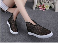 Wholesale packaging netting - Ladies sandals summer fashion Net cloth woman Package heel Shoes Wear non-slip rubber sole Buckle sandals Gold Blue